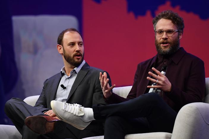 Evan Goldberg and Seth Rogen (right) have worked together on numerous blockbuster films including Pineapple Express, This Is the End, The Interview, and more.