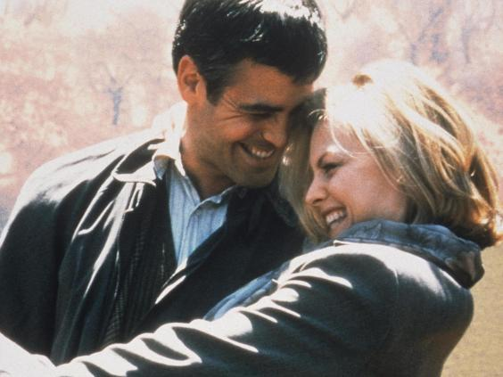 George Clooney and Michelle Pfeiffer in 'One Fine Day' (Rex)