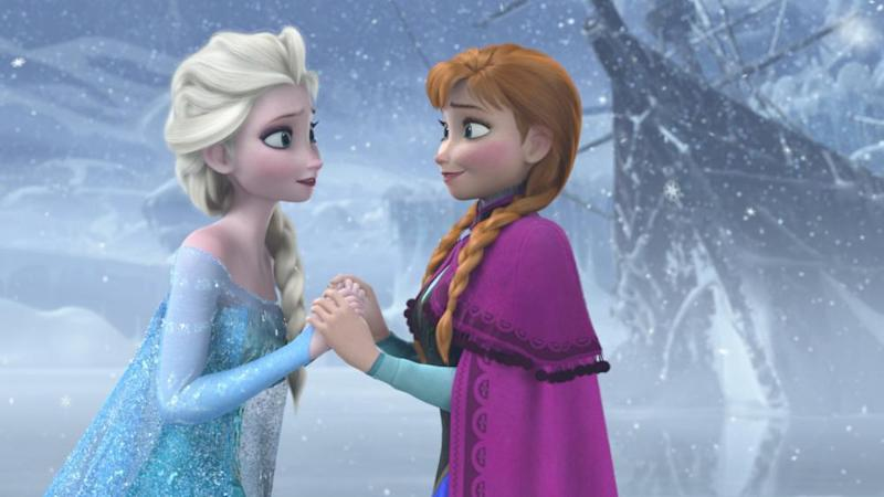Sister act: Elsa and Anna in Frozen
