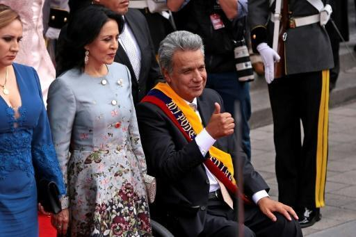 New leftist Ecuador president takes office
