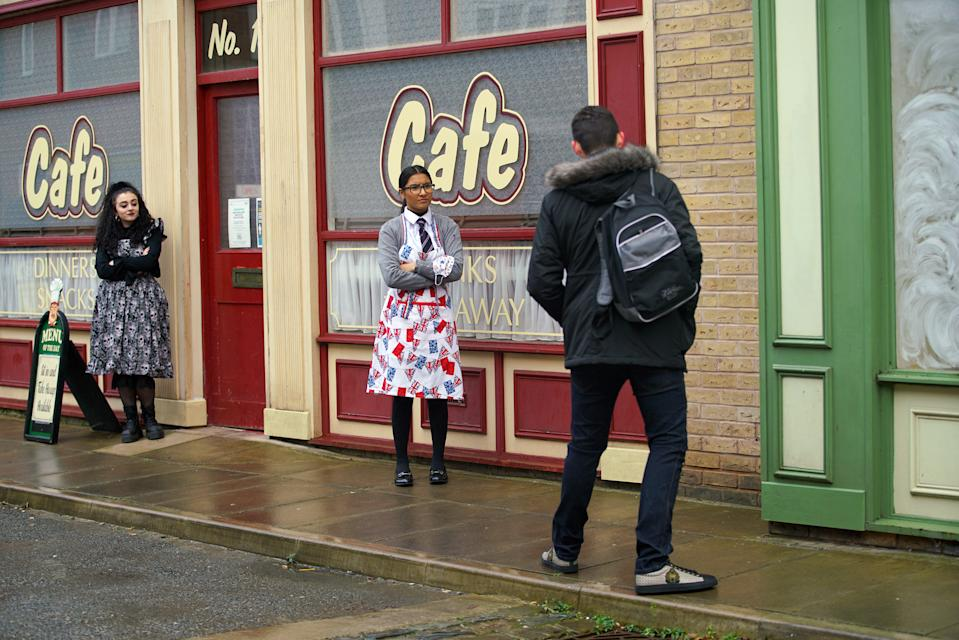 FROM ITV  STRICT EMBARGO -  No Use Before Tuesday 26th January 2021  Coronation Street - Ep 10237  Monday 1st February 2021 - 1st Ep  Simon Barlow [ALEX BAIN] admits to his mate Jacob Ray [JACK JAMES RYAN] from the chippy that they're struggling. He's grateful as Jacob offers to lend him £60.    Picture contact David.crook@itv.com  Photographer - Danielle Baguley  This photograph is (C) ITV Plc and can only be reproduced for editorial purposes directly in connection with the programme or event mentioned above, or ITV plc. Once made available by ITV plc Picture Desk, this photograph can be reproduced once only up until the transmission [TX] date and no reproduction fee will be charged. Any subsequent usage may incur a fee. This photograph must not be manipulated [excluding basic cropping] in a manner which alters the visual appearance of the person photographed deemed detrimental or inappropriate by ITV plc Picture Desk. This photograph must not be syndicated to any other company, publication or website, or permanently archived, without the express written permission of ITV Picture Desk. Full Terms and conditions are available on  www.itv.com/presscentre/itvpictures/terms