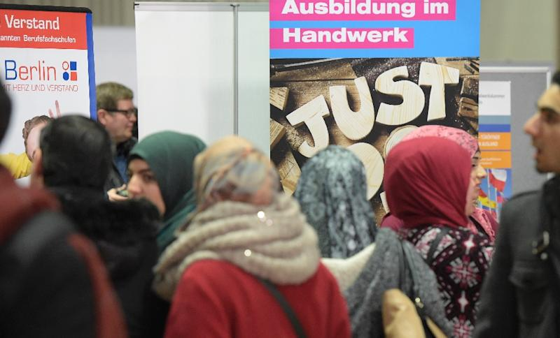 Some 1.1 million asylum seekers arrived in Germany last year alone, and for many, finding gainful employment is a key step towards regaining some normalcy in their lives (AFP Photo/Tobias Schwarz)