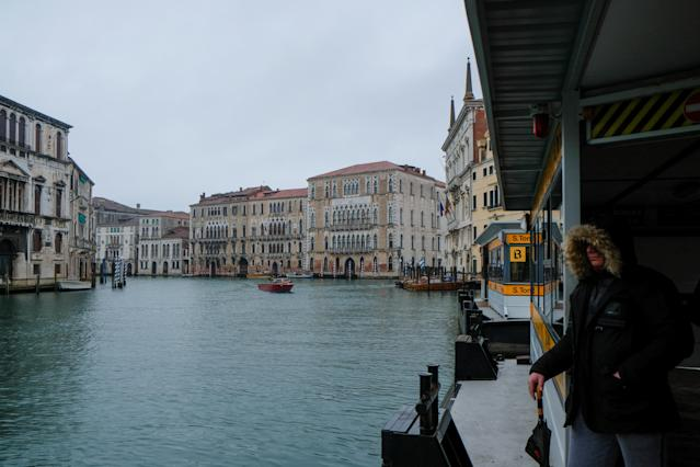 The spread of coronavirus has caused a decline in the number of tourists in Venice. (Reuters/Manuel Silvestri)