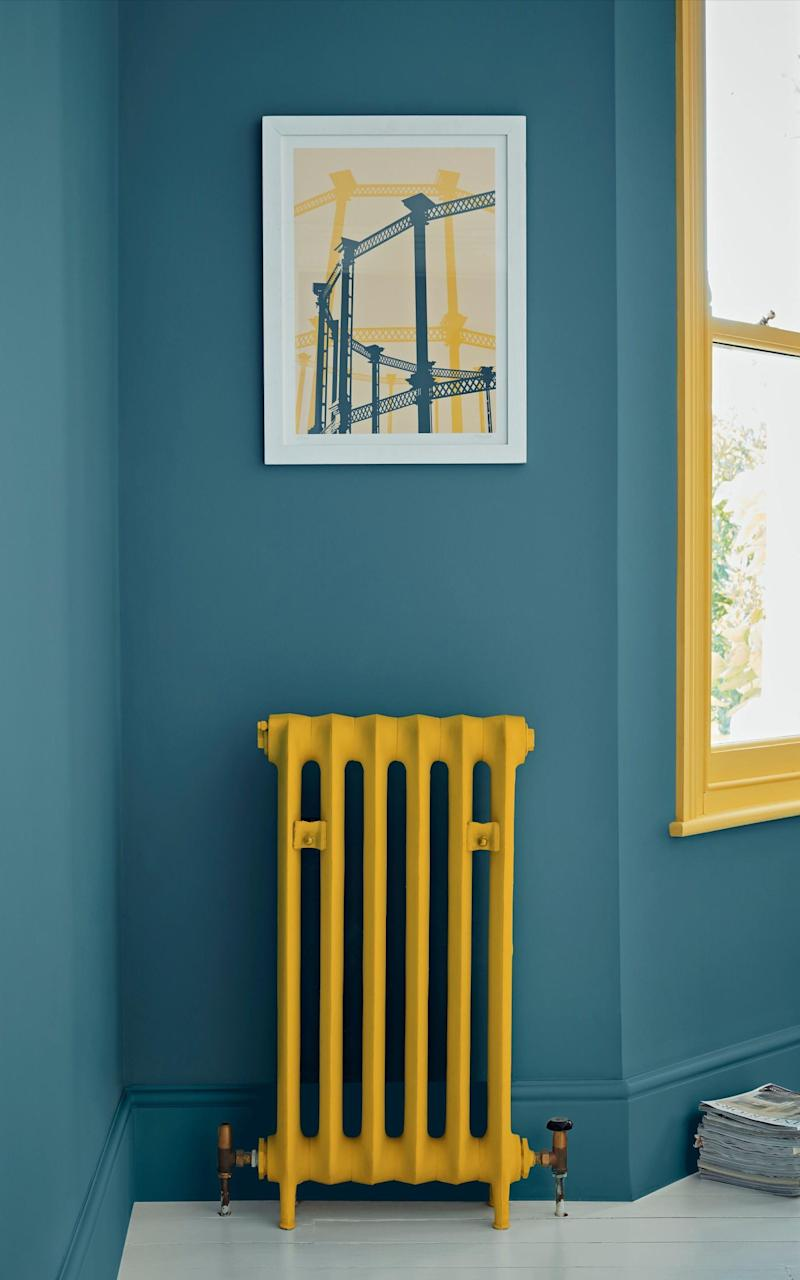 Give a radiator (and matching woodwork) a bright new look - Crown Paints