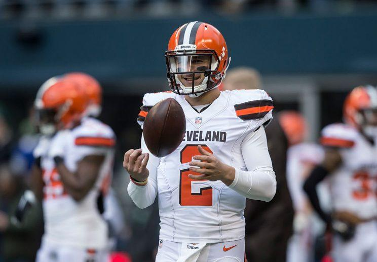 Johnny Manziel says he's trying to make a return to the NFL. (Getty)