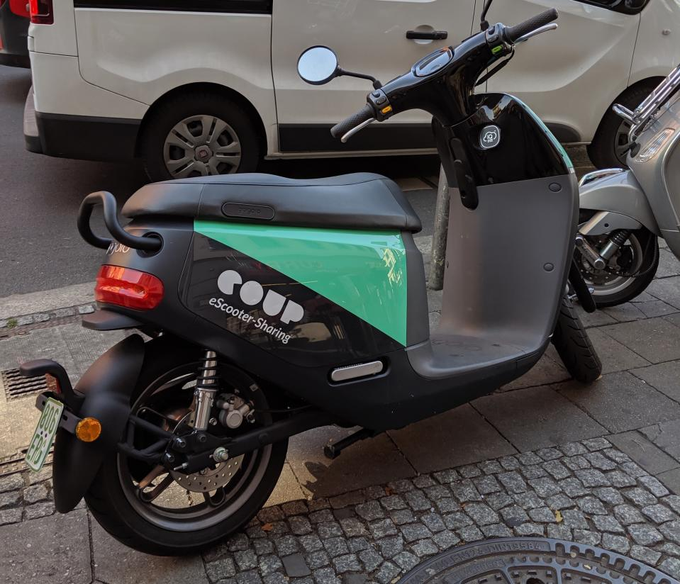 Coup electric scooter, a competitor to Emmy. A driver's license is required, but the process is easy. (Yahoo Finance)