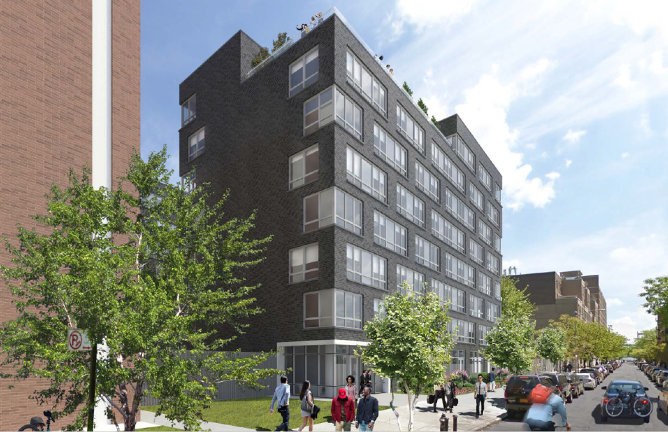 Co-living company Common and L+M Development Parters are teaming up to create affordable housing as part of a pilot program from New York's Department of Housing Preservation and Development. This is a rendering of a project in East Harlem. (Photo: NYC Department of Housing Preservation and Development)