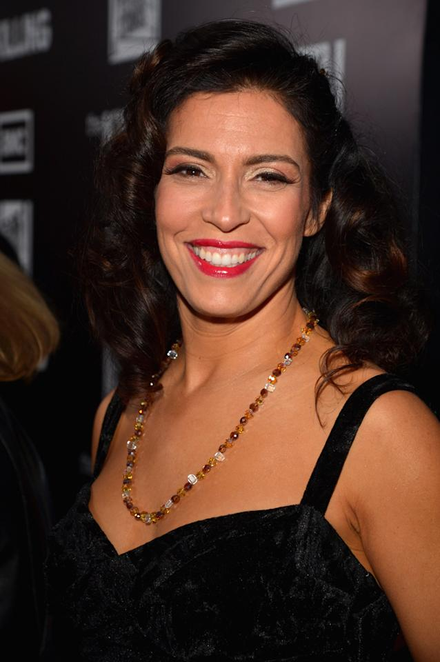 "Nicole Jackson attends AMC's ""<a target=""_blank"" href=""http://tv.yahoo.com/killing/show/46787"">The Killing</a>' Season 2 Los Angeles Premiere at ArcLight Cinemas on March 26, 2012 in Hollywood, California."