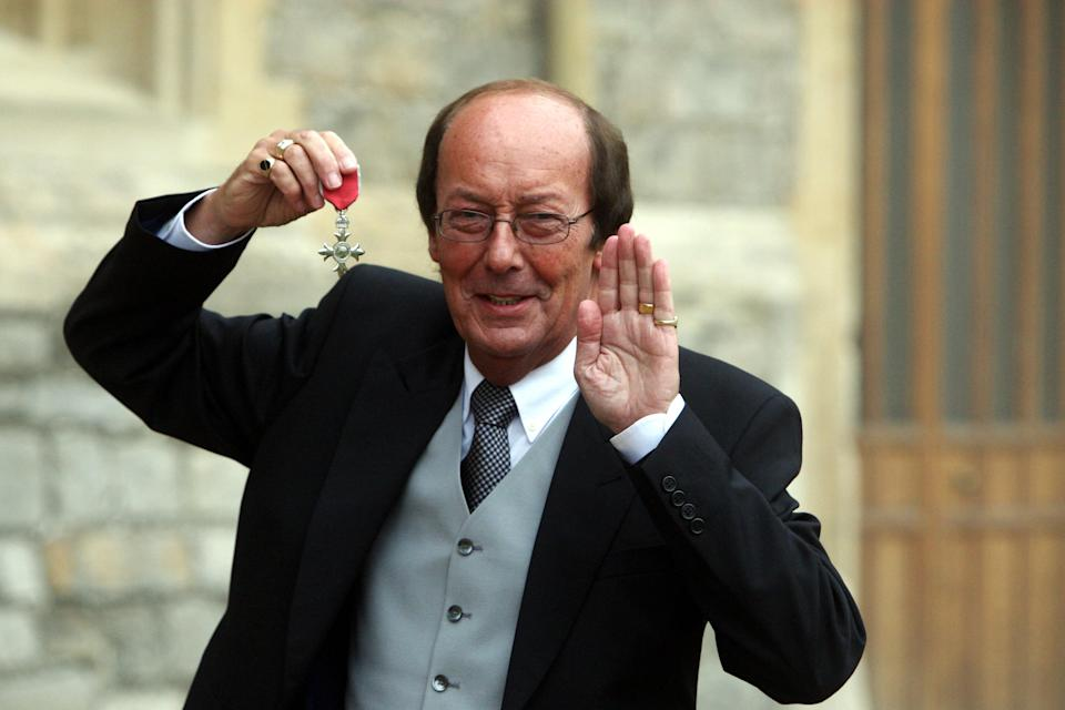 TV Presenter Fred Dinenage after an Investiture ceremony at Windsor Castle after he was made a Member of the British Empire (MBE) by Queen Elizabeth II.