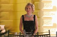 <p>While recreating one of Princess Diana's most famous looks for <em>Diana</em>, Naomi Watts donned a pair of diamond and sapphire earrings almost identical to the Princess of Wales's real jewels. </p>