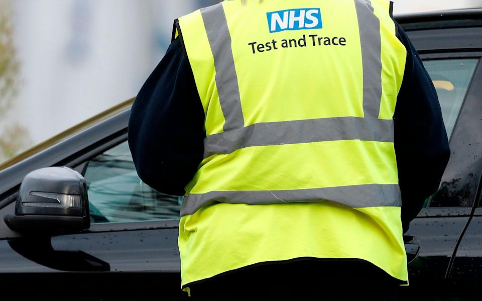 An NHS Test and Trace worker (AFP/Getty)