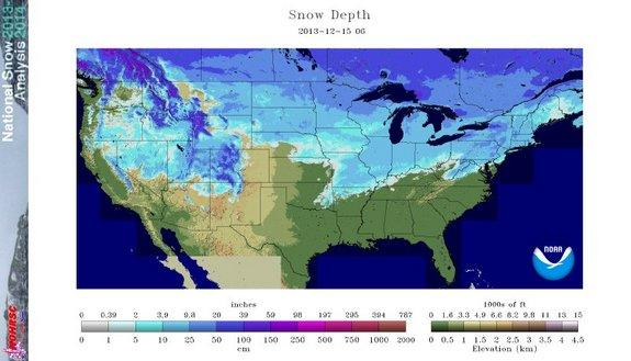 December US Snow Pack Largest in a Decade