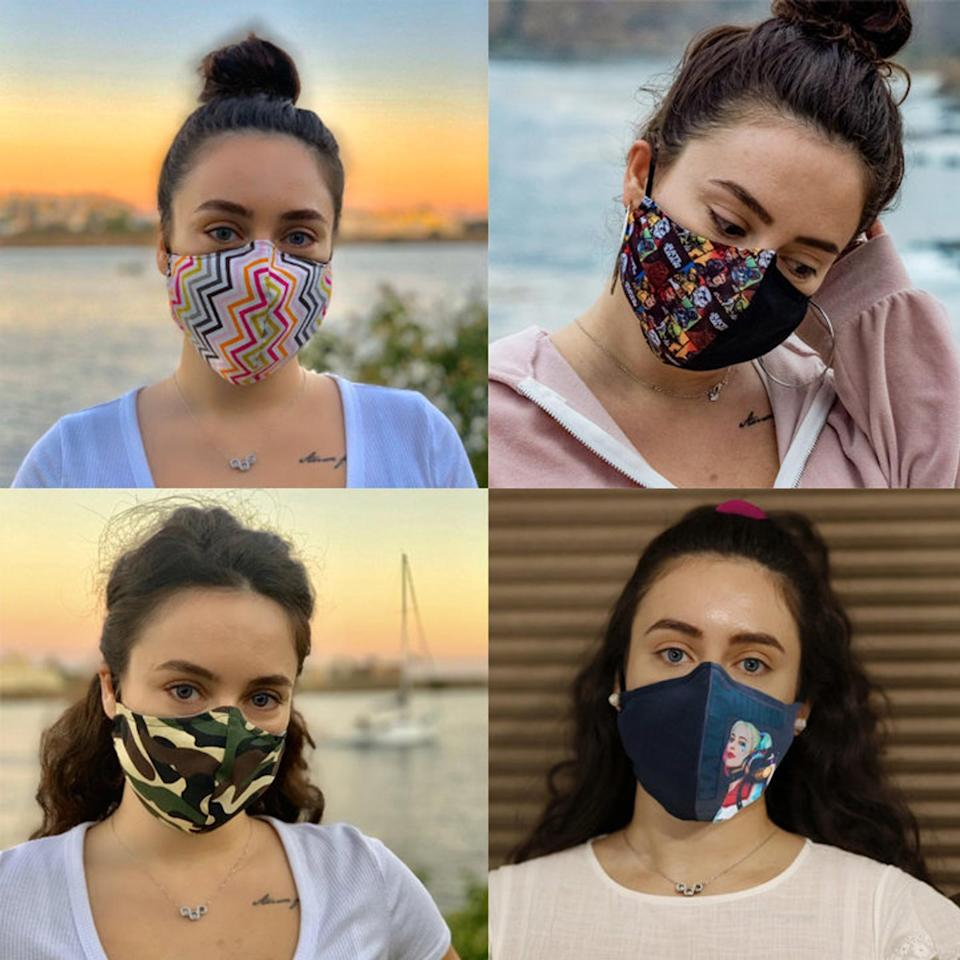 """<p>Adjust the wire in this <span>Nose Wire Cotton Face Mask</span> ($9-$15) to fit your nose snugly. This mask also comes with a filter pocket, <a href=""""https://www.popsugar.com/fitness/what-to-use-as-filters-in-face-mask-47450335"""" class=""""link rapid-noclick-resp"""" rel=""""nofollow noopener"""" target=""""_blank"""" data-ylk=""""slk:which you can use if you'd like"""">which you can use if you'd like</a>, but it may make it more difficult to breathe while working out.</p>"""