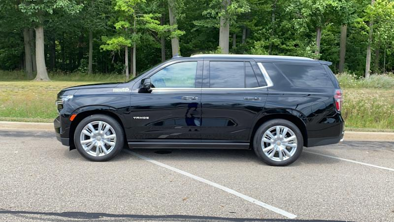 2021 Chevrolet Tahoe prices start at $49,000. The 4WD High Country model shown here has a sticker price of $80,550.