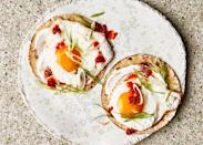 """<a href=""""https://www.bonappetit.com/recipe/fried-egg-tacos-with-chile-jam?mbid=synd_yahoo_rss"""" rel=""""nofollow noopener"""" target=""""_blank"""" data-ylk=""""slk:See recipe."""" class=""""link rapid-noclick-resp"""">See recipe.</a>"""