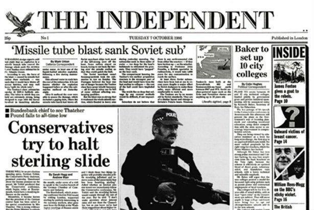 He had been a member of The Independent's team since it launched in 1986