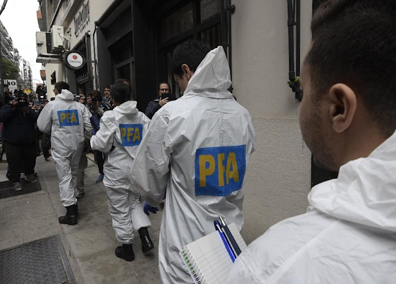 Argentine police arrive at ex-president Cristina Kirchner's Buenos Aires residence to search for evidence of corruption