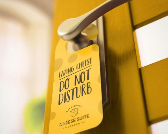 the do not disturb sign is accurate of all cheese-eating situations. [Photo: Café Rouge]