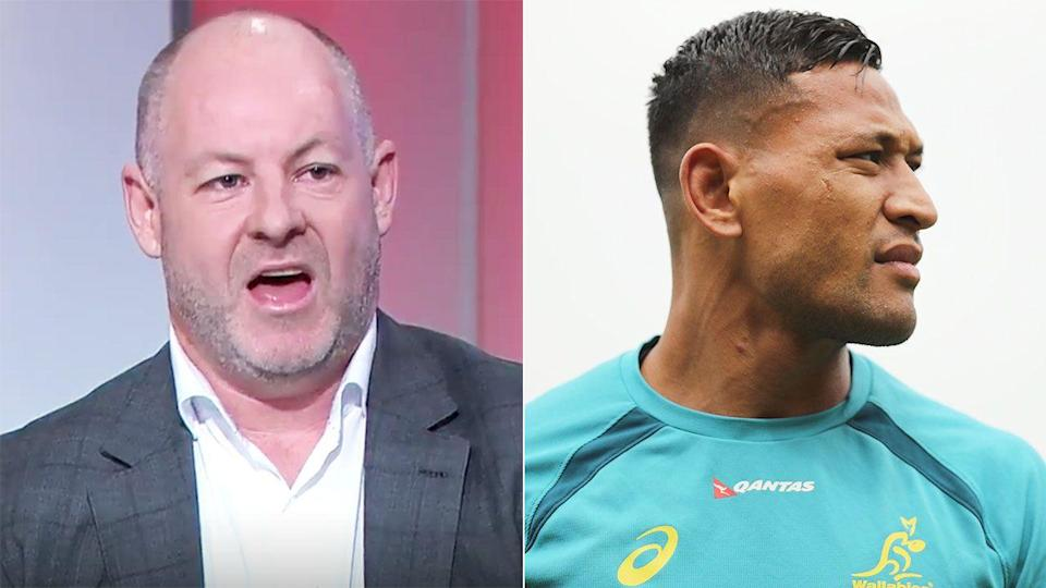 Andrew Webster blasted Folau. Image: WWOS/Getty