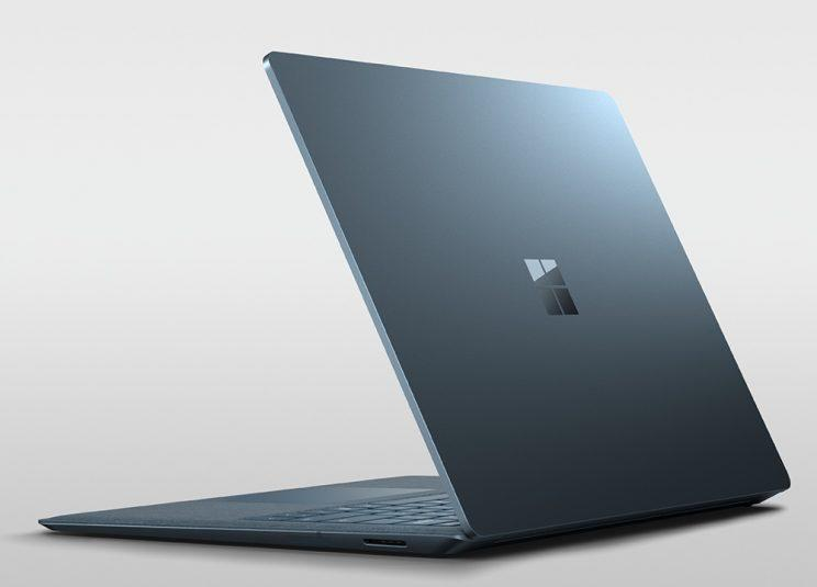 Microsoft Surface Laptop in Blue.