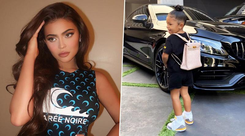 Kylie Jenner's Daughter Stormi Webster's First Day School Outfit Comprises of A Pink Hermès Backpack Worth Over $10,000 (Watch Video)