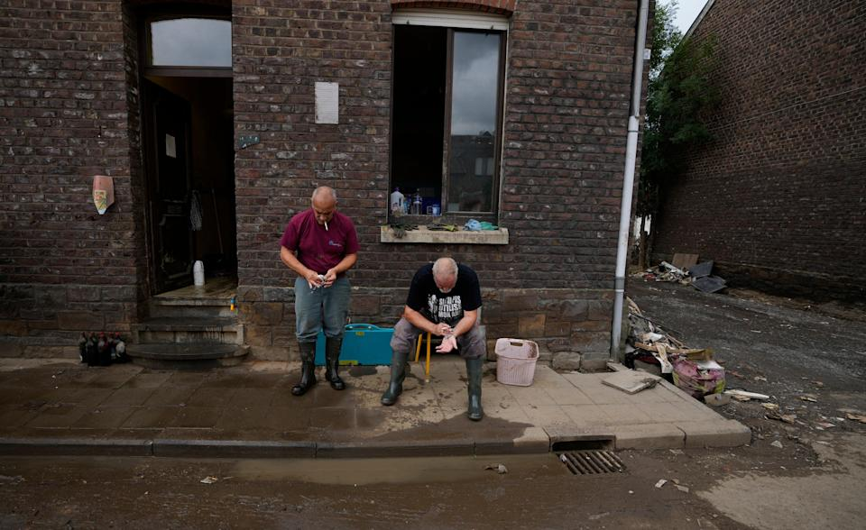 Belgium Floods Mental Trauma (Copyright 2021 The Associated Press. All rights reserved)