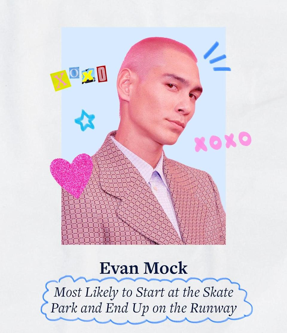 """<p>Evan Mock is well-known as a skateboarder, photographer, and model, but with his acting stint on the expectedly <a href=""""https://www.popsugar.com/fashion/gossip-girl-hbo-max-season-1-style-48410022"""" class=""""link rapid-noclick-resp"""" rel=""""nofollow noopener"""" target=""""_blank"""" data-ylk=""""slk:stylish Gossip Girl reboot"""">stylish <strong>Gossip Girl</strong> reboot</a>, he now has the fashion industry in awe. And there he was toting his <a href=""""https://www.popsugar.com/fashion/evan-mock-outfit-gossip-girl-premiere-48401821"""" class=""""link rapid-noclick-resp"""" rel=""""nofollow noopener"""" target=""""_blank"""" data-ylk=""""slk:Gucci messenger bag at the premiere"""">Gucci messenger bag at the premiere</a>.</p>"""