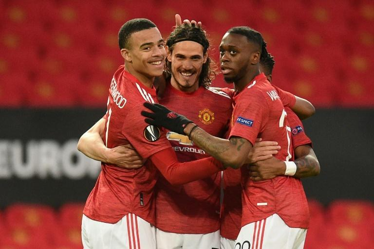 Cavani's strike was his first in Europe for United