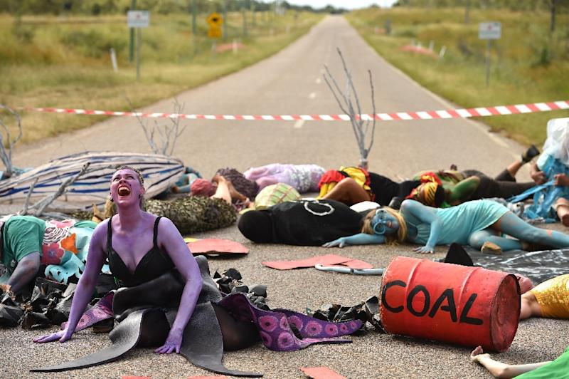 The Adani coal mine has been under fierce debate -- and protest -- for almost a decade (AFP Photo/PETER PARKS)