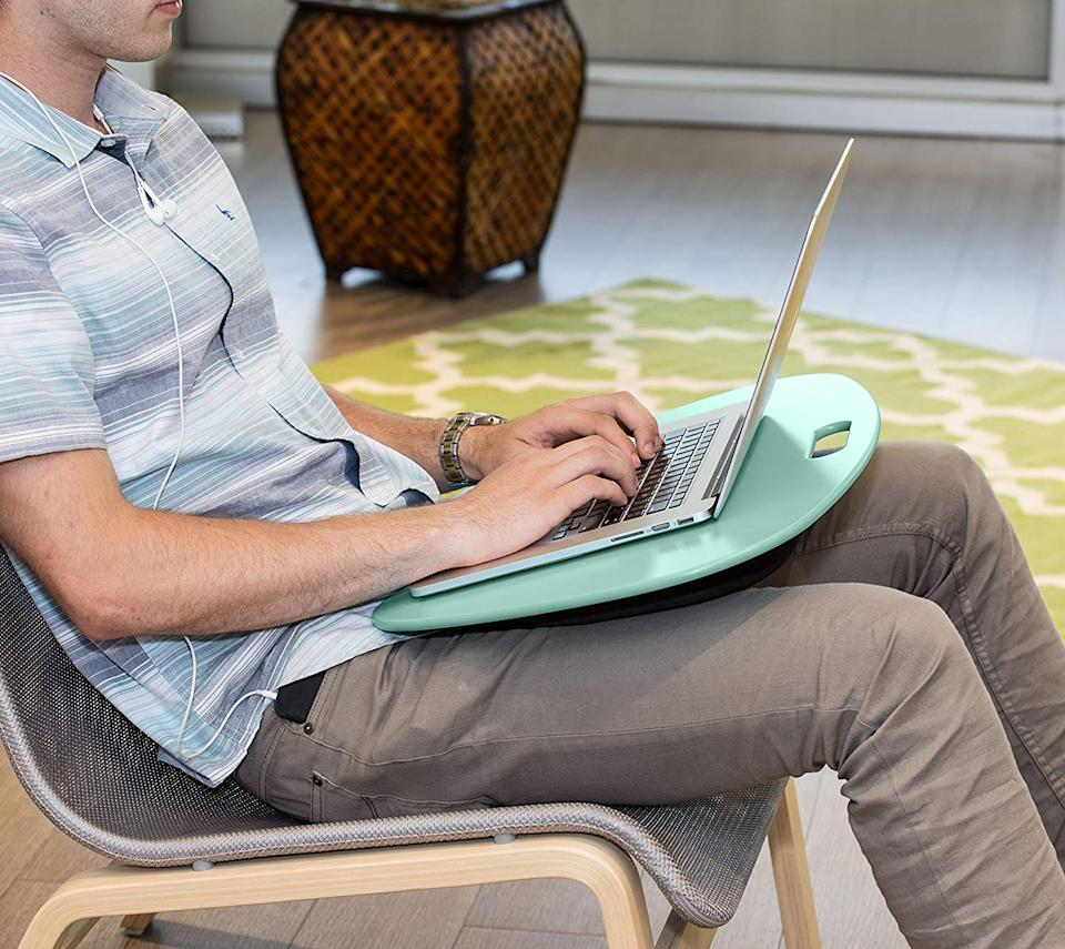Make your laptop more comfortable on your lap. (Photo: Amazon)