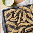 <p>If you're looking for a new way to enjoy portobello mushrooms, look no further. These meaty mushrooms are sliced, then coated in crispy breadcrumb topping. Hot out of the oven, they're served with a creamy ranch sauce. They're a perfect lower-carb alternative to regular french fries!</p>