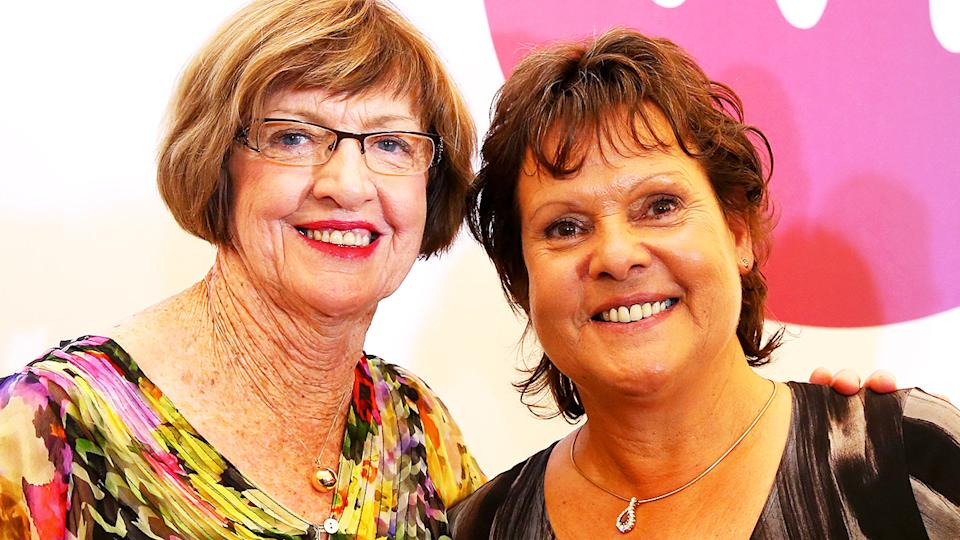 Margaret Court and Evonne Goolagong-Cawley, pictured here at Wimbledon in 2013.