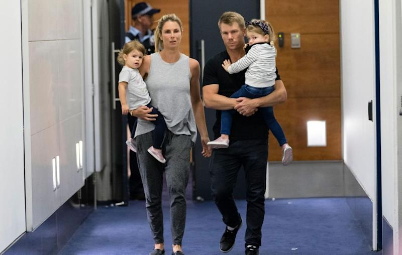 The family touching down in Sydney on Thursday. Source: Getty