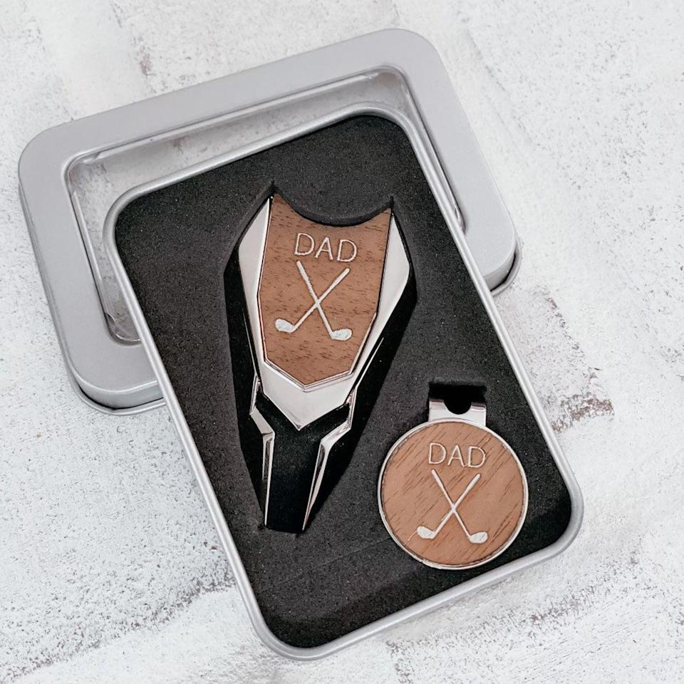 <p>The <span>Personalized Golf Ball Marker and Divot Tool Set</span> ($30, and up) is a great gift for an avid golfer!</p>