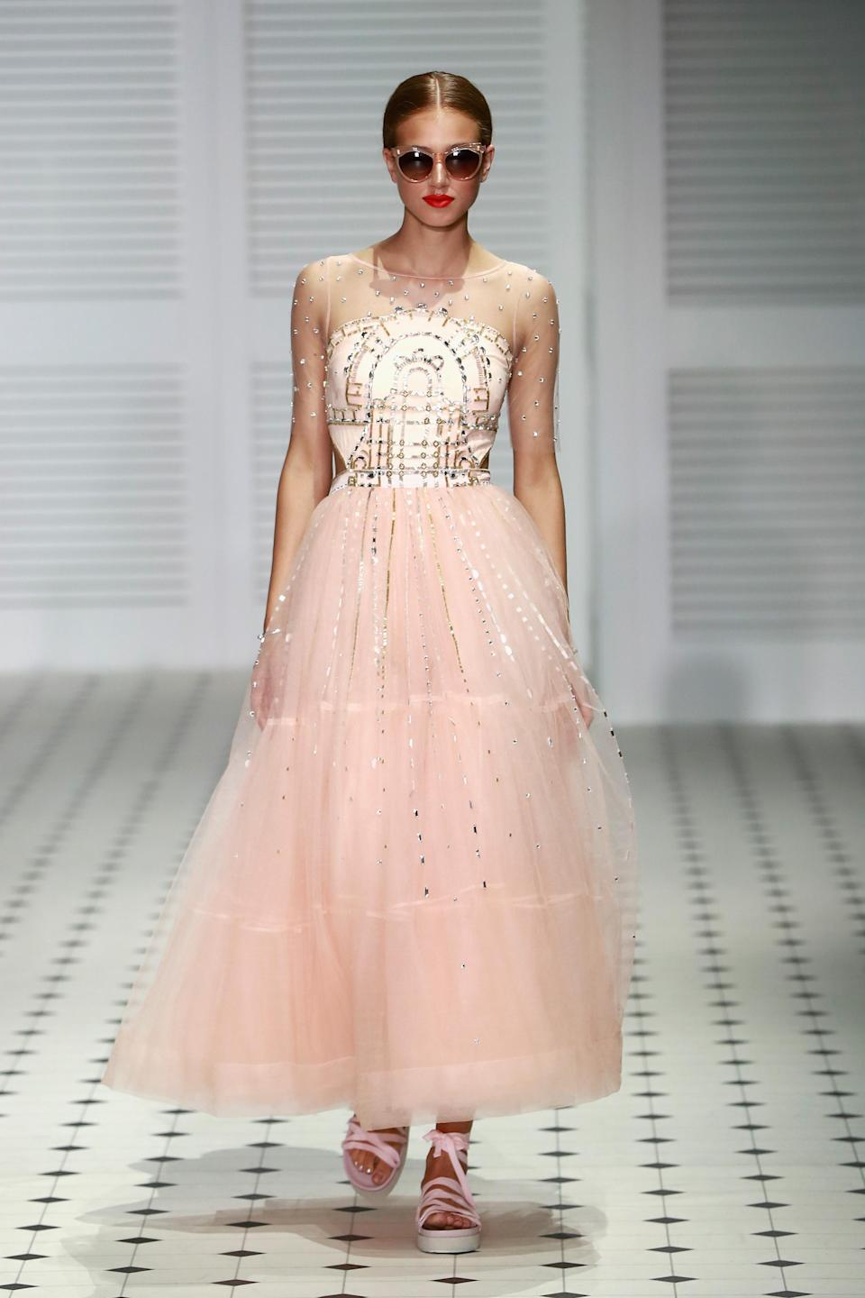 <p>Temperley knocked it out of the park once again with their gorgeous spring/summer gowns — fit for a princess. </p>
