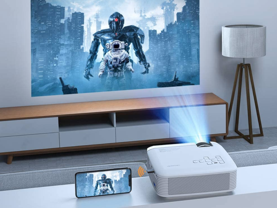 Save nearly 25 percent on this Apeman Mini Projector. (Photo: Apeman)