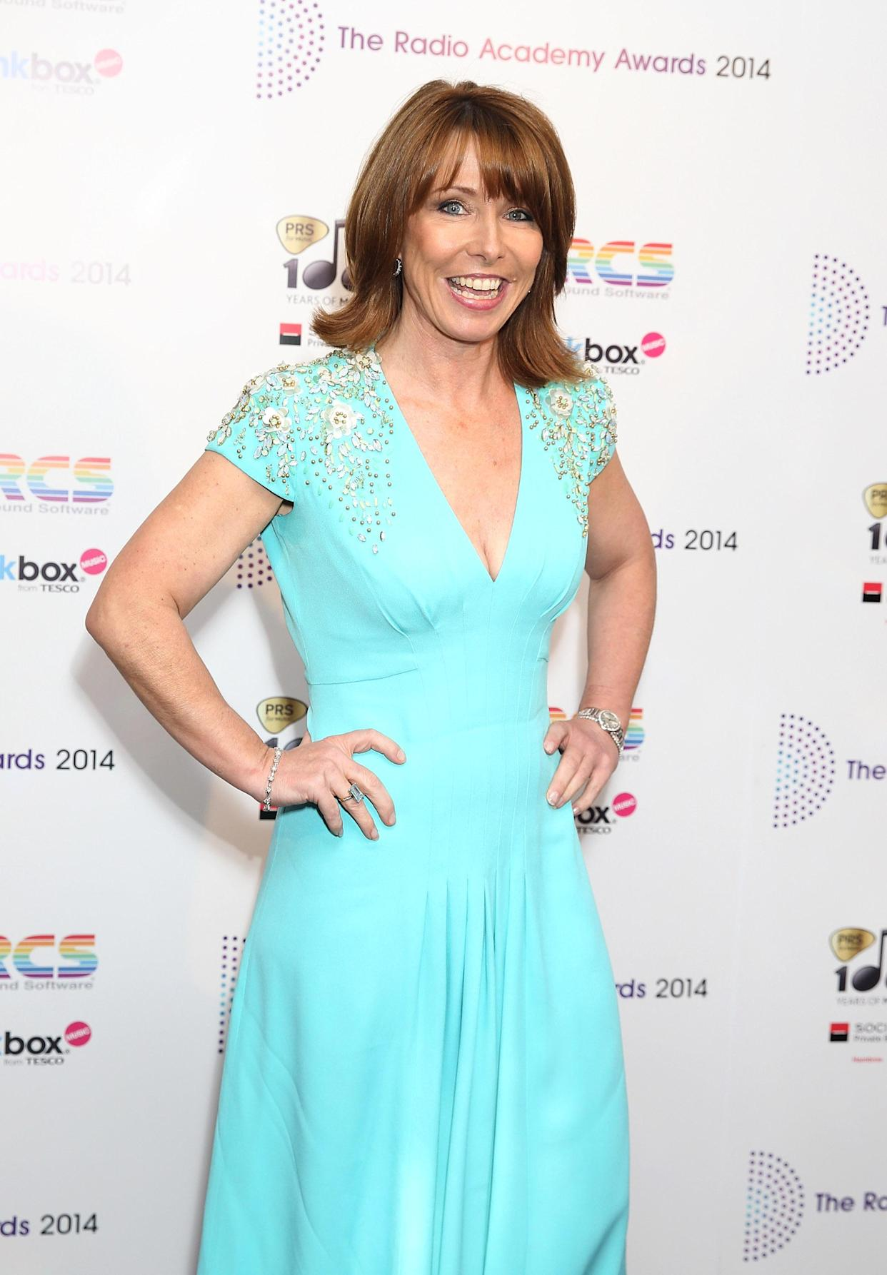Kay Burley attends The Radio Academy Awards at the Grosvenor House Hotel in London.