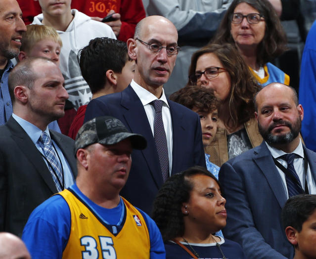 NBA commissioner Adam Silver is working to grow the WNBA, particularly with a younger audience. (AP Photo/David Zalubowski)