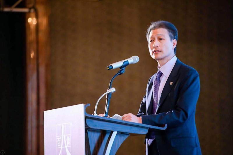 East West Bank Chairman, President and CEO Dominic Ng speaks at a luncheon last year in Shanghai. Courtesy: East West Bank