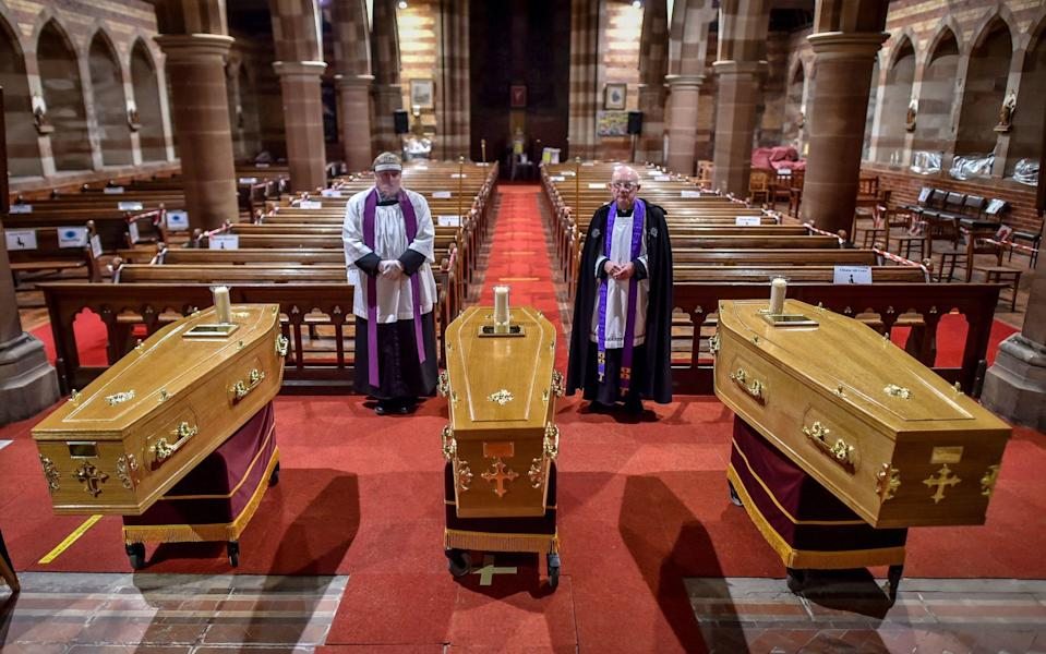 Funeral for Gladys, Dean and Darren Lewis - Ben Birchall/PA Wire