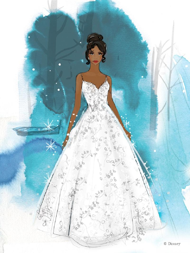 One of the princess inspired wedding dress designs (Disney)