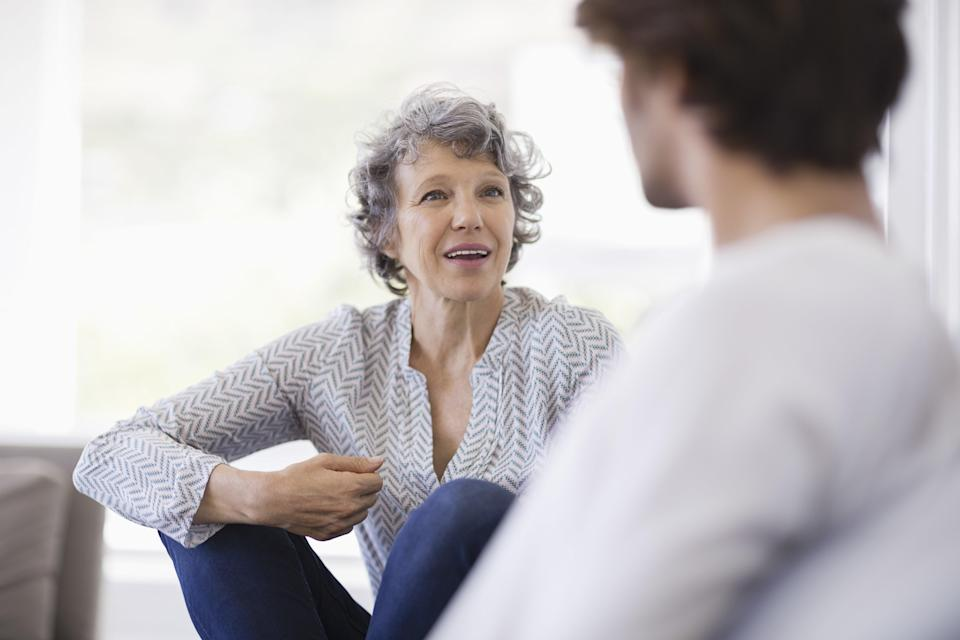 <p>It's not you, or her—it's <em>HER</em> (as in, your mother-in-law). Leave it to your spouse to take up the issue with his mother in private, and note that her tendency makes both of you uncomfortable, says Sherman. If he needs coaching, encourage him to tell his mom that he's proud of you (not that he needs a reminder!) and that she needs to respect his marriage. She'll likely back off to avoid jeopardizing her relationship with him.</p>