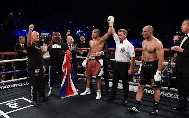 Chris Eubank Jnr beats Arthur Abraham to remain IBO World Super Middleweight champion