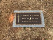 Chinedu Efoagui's gravesite is seen in Buford