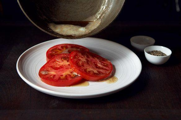 "<strong>Get the <a href=""http://food52.com/recipes/18779-brown-butter-tomatoes"" target=""_blank"">Brown Butter Tomatoes recipe</a> from Amanda Hesser via Food52</strong>"