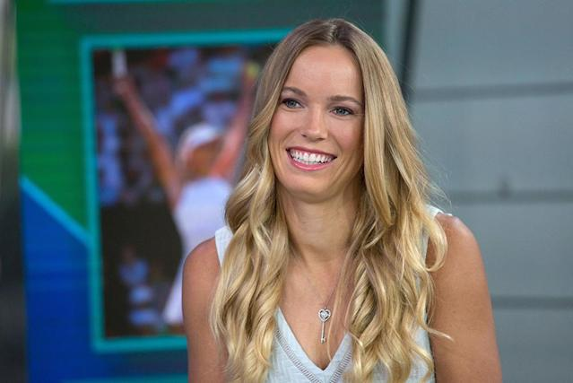 <p>The blond tennis pro looked bright-eyed during an appearance on the <em>Today </em>show. We can't get over how healthy and thick her hair is and that pearly white smile. (Photo: Getty Images) </p>
