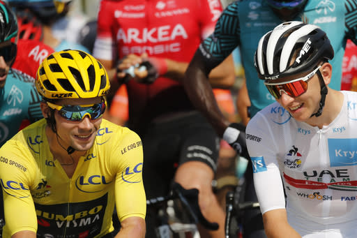 Slovenia on edge as 2 homegrown riders fight for Tour win