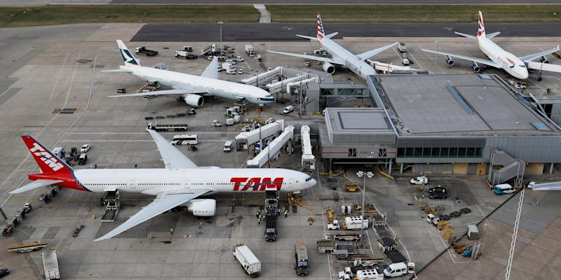 FILE PHOTO: A general view of Heathrow Airport near London, Britain, October 11, 2016. REUTERS/Stefan Wermuth/File Photo