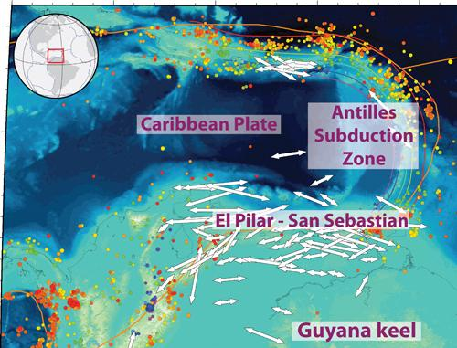 Tectonic Shoving Match Formed Caribbean Island Arc