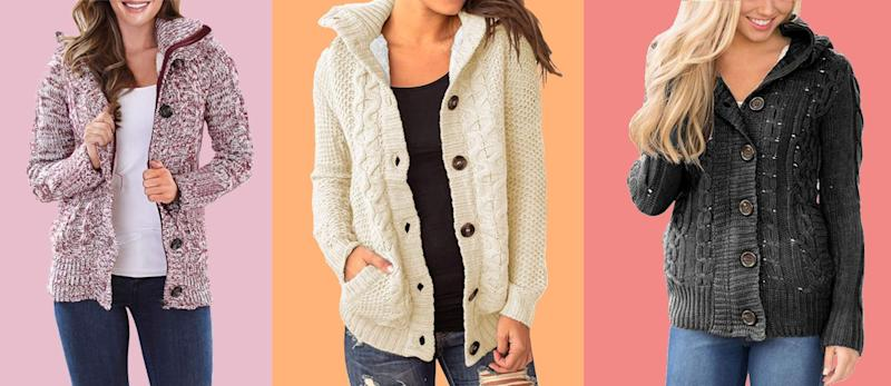 Sidefeel women's hooded knit cardigan. (Photo: Amazon)